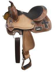 "10"", 12"" Double T youth barrel style saddle."