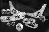 12 piece engraved praying cowboy silver trim kit.