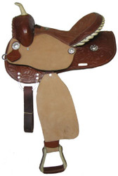"14"", 15"", 16"" Double T barrel saddle."