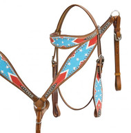 Showman ® Rebel flag headstall and breast collar set.