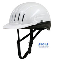 White EQUI-LITE Riding Helmet with Dial Fit System by International Riding Helmets