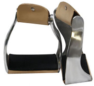Showman™ Lightweight Twisted Angled Aluminum Stirrups with Wide Rubber Grip Tread