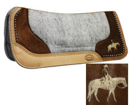 Showman™  Felt Bottom Saddle Pad with Laser Etched Pleasure Horse