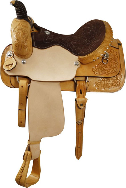 Circle 'S' Floral Tooled Roping Saddle