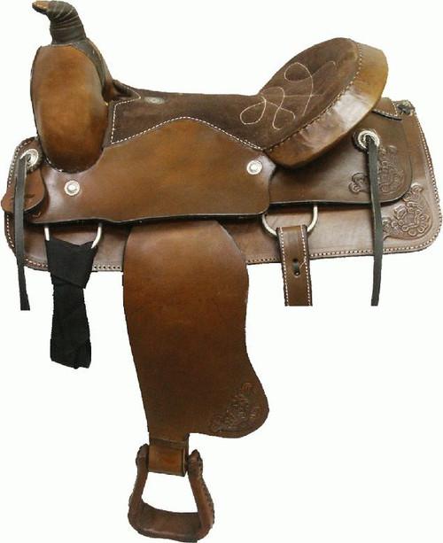 Circle 'S' Western Bullhide Covered Roping Saddle