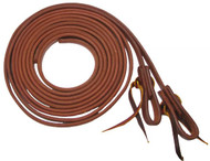"""Showman 1/2"""" X 8' Long Oiled Harness Leather Split Reins"""
