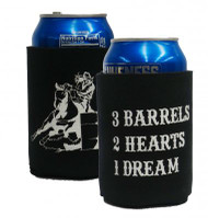 Barrel racer drink koozie