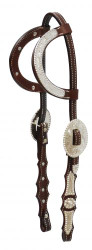 Showman ® Argentina cow leather show headstall.