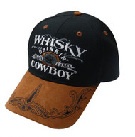 """Whisky Drinking Cowboy"" baseball hat."