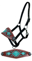 Showman ® Beaded bronc nose halter.