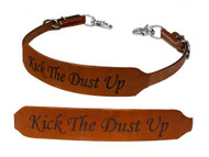 Showman ® Kick the Dust Up branded wither strap.