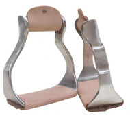 Showman® wide aluminum stirrups.