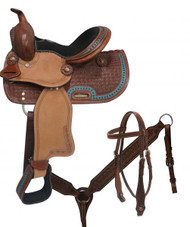 "10"" Double T  Youth/Pony saddle set"