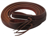 """Showman ® 8ft X 3/4"""" Oiled harness leather split reins. Made in America."""