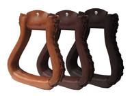 Showman ® PONY Leather wrapped stirrups.