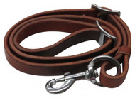 "Showman ® 3/4"" x 40"" Oiled harness leather tie down strap."