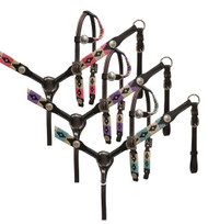 Showman ® PONY wrap embroidered headstall and breast collar set.