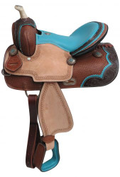 "13"" Double T Pony/Youth barrel style saddle."