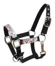 Showman ® PONY Halter with Navajo print overlay.