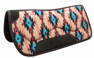 "Showman ® 31"" x 32"" Felt bottom Navajo saddle pad with built up sides."