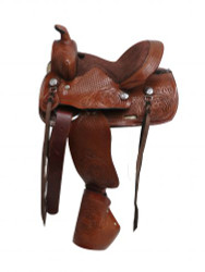 "10""Double T pony saddle with tapedero stirrups."