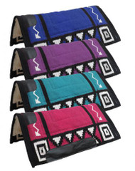 "36"" x 34"" woven wool top cutter style saddle pad with Kodel fleece bottom."