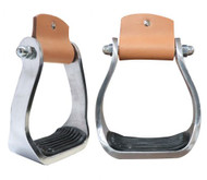 Showman ® Pony/Youth polished aluminum stirrup with rubber tread.