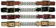 Showman ® leather curb with double chain.