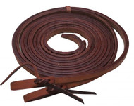 "Showman ® 1/2"" x 8ft Argentina cow leather split reins."
