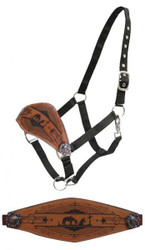 Showman® Praying cowboy bronc nose halter.