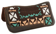 "Showman ® 34"" X 36"" Memory felt saddle pad with woven top."