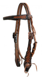 Showman ® Argentina cow leather browband headstall.
