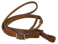 Showman ® 8ft Argentina cow leather contest reins.