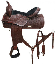 "16"" Economy style pleasure saddle set."