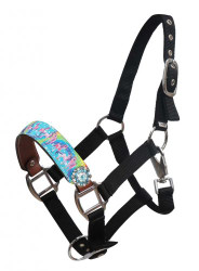 "Showman ® PONY SIZE  ""Rainbow Pony"" halter."