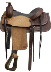 "16"" Blue River Top Grain Seat Roping Saddle"