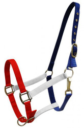 Showman® Red, White and Blue nylon halter.
