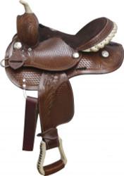 """12"""" Fully tooled Double T pony saddle."""
