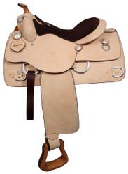 """16"""" Premium leather Double T training saddle."""