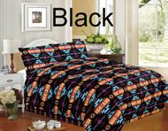 4 piece Queen Size Southwest Design Luxury Comforter Set.