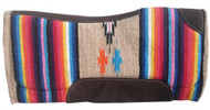 "32"" x 32"" Contoured Serape Felt Bottom Saddle Pad."