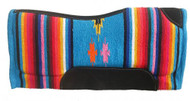 "32"" x 32"" Contoured Serape Felt Bottom Saddle Pad.."