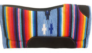 "32"" x 32"" Contoured Serape Felt Bottom Saddle Pad"