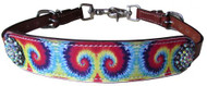 Showman ® Tie Dye print wither strap.