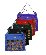 Showman ® Slow feed hay bag with 16 feeder holes.