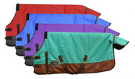 """PONY/YEARLING 48""""-54"""" Waterproof and Breathable Showman™ 1200 Denier Turnout Sheet."""