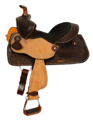 "12"" Double T  Youth Bear Trap style saddle."