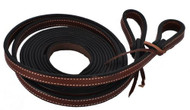 Showman® 8ft Leather Double Stitched Split Reins.