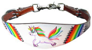 Showman ® PONY SIZE  Rainbow Unicorn print wither strap.