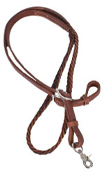 Showman ® 7ft Argentina cow leather contest reins..
